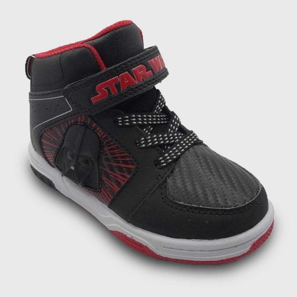 Star Wars Toddler Boys High Top Sneakers 8 - Black