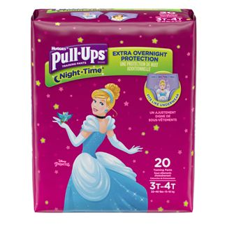 Huggies® Girls' Pull-Ups Night Time Training Pants, Jumbo Pack - 3T-4T (20ct)
