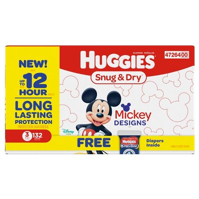 Huggies Snug & Dry Diapers, Giga Bonus Pack - Size 3 (132ct)