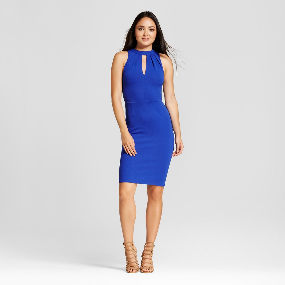 Womens Solid Textured Knit Dress - Necessary Objects - Cobalt L, Blue