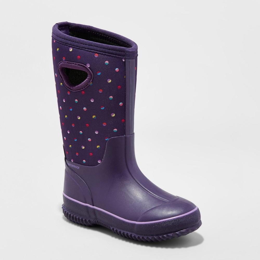 Girls Polly Neoprene Winter Boots - Cat & Jack Purple 13