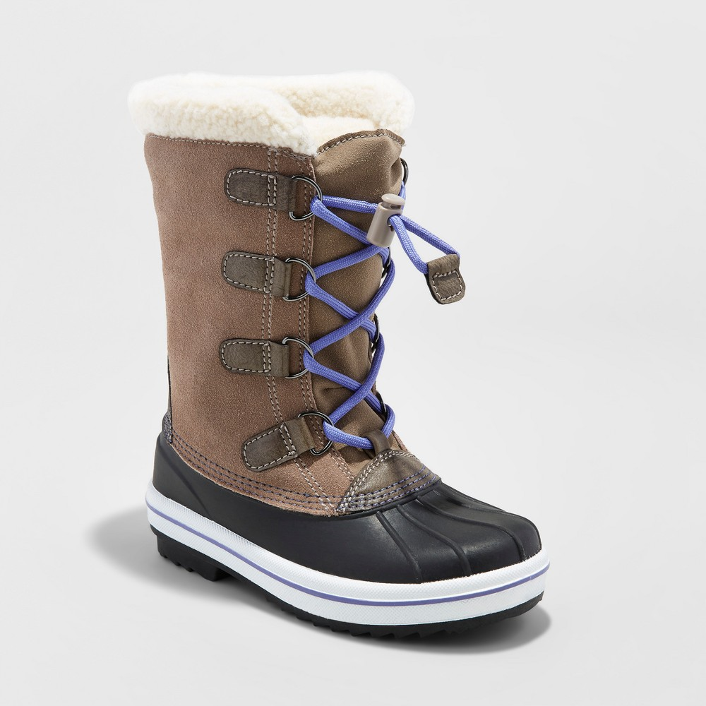 Girls Paloma Sherpa Winter Boots - Cat & Jack Tan 3, Beige