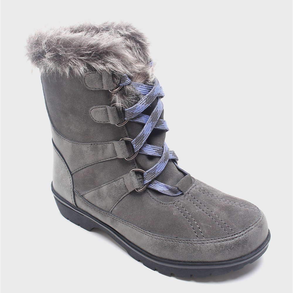 Womens Floria Short Functional Winter Boots Merona, Size: 9, Gray