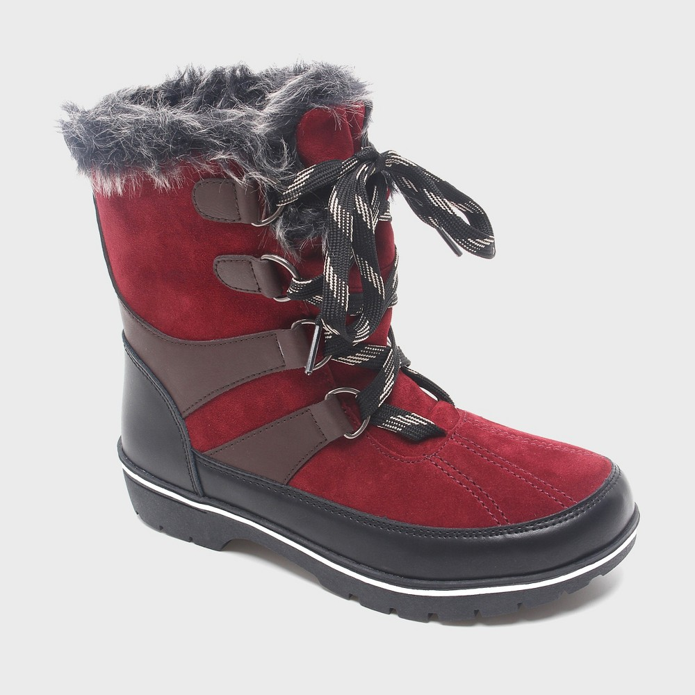 Womens Floria Short Functional Winter Boots Merona, Size: 6, Red