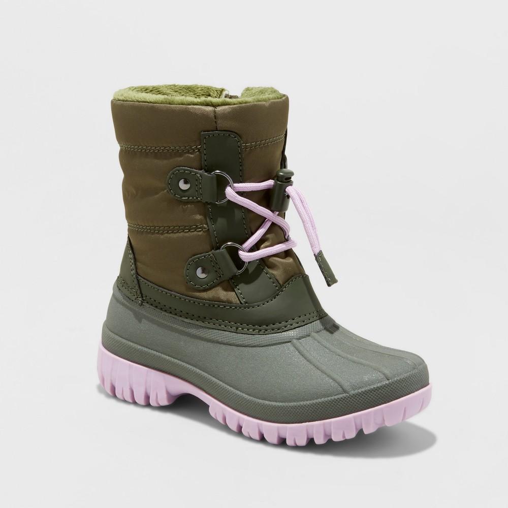 Girls Paisley Short Bungee Winter Boots - Cat & Jack Green 5