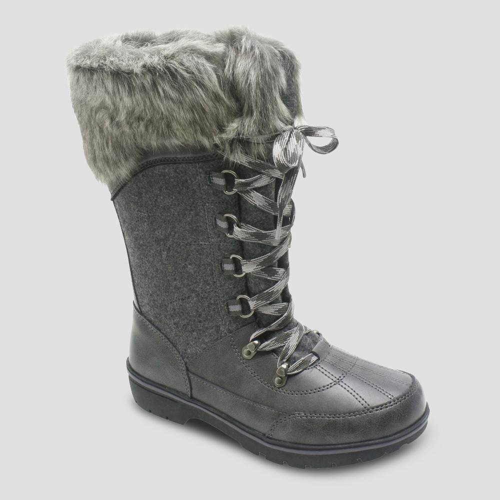 Womens Hollyn Winter Boots - Merona Grey 10, Gray