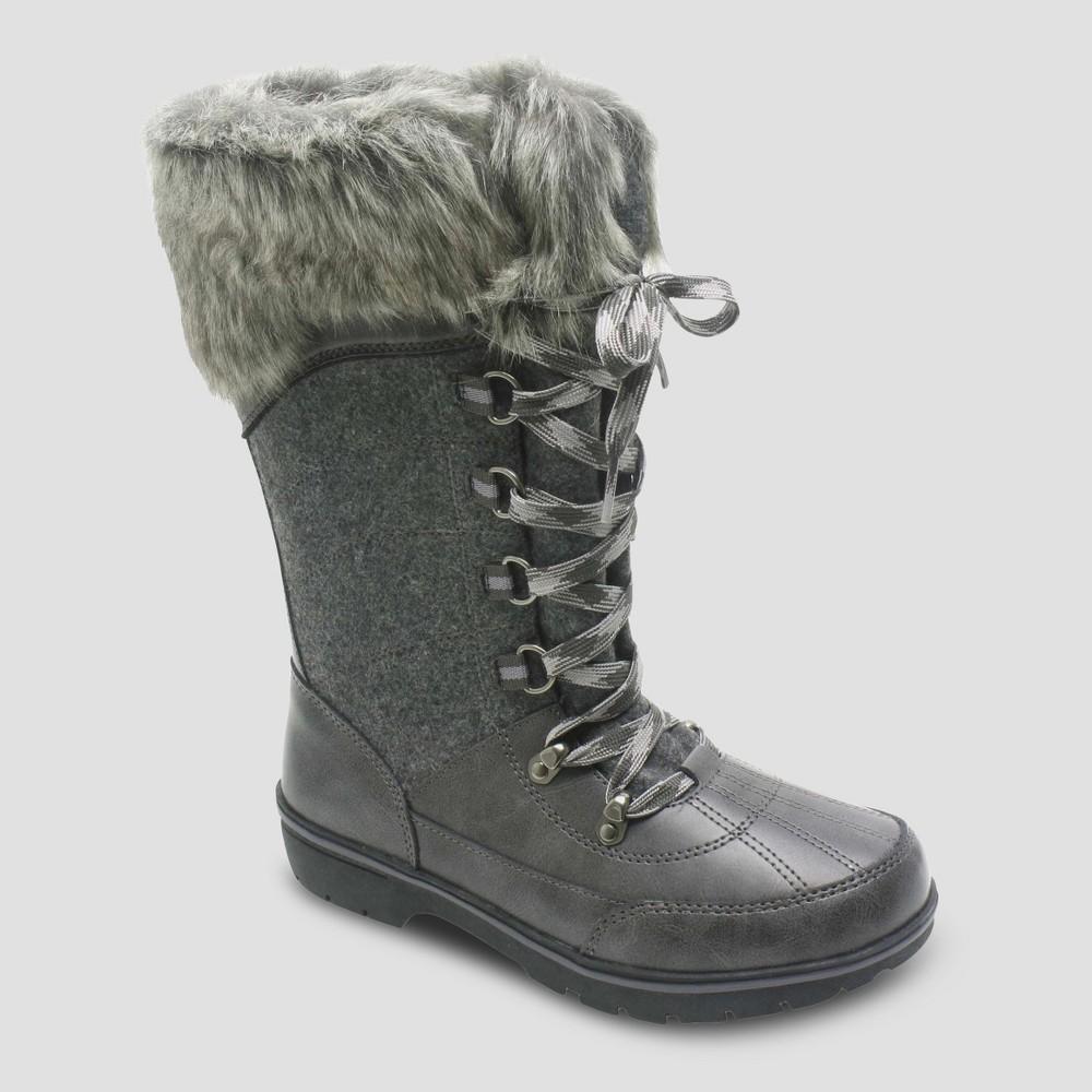 Womens Hollyn Winter Boots - Merona Grey 11, Gray