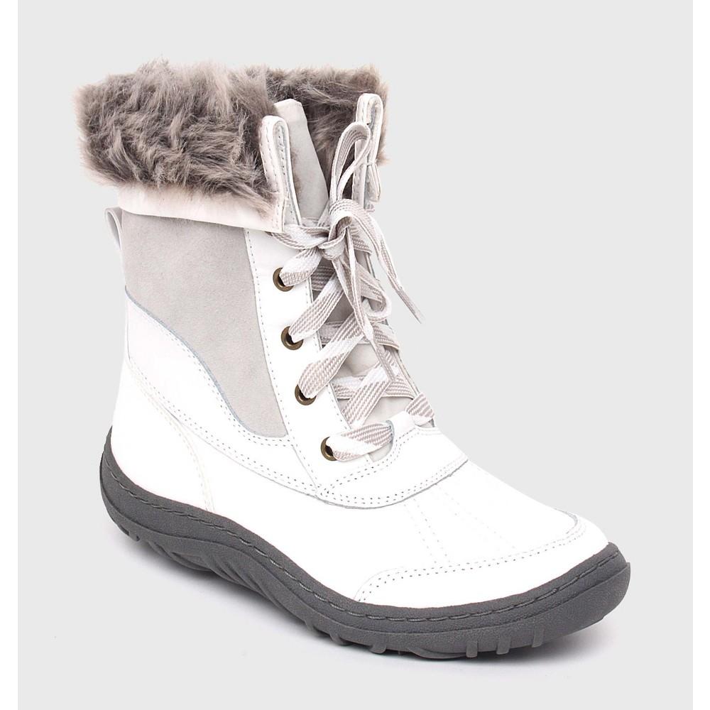 Womens Porsha Winter Boots - Merona White 6