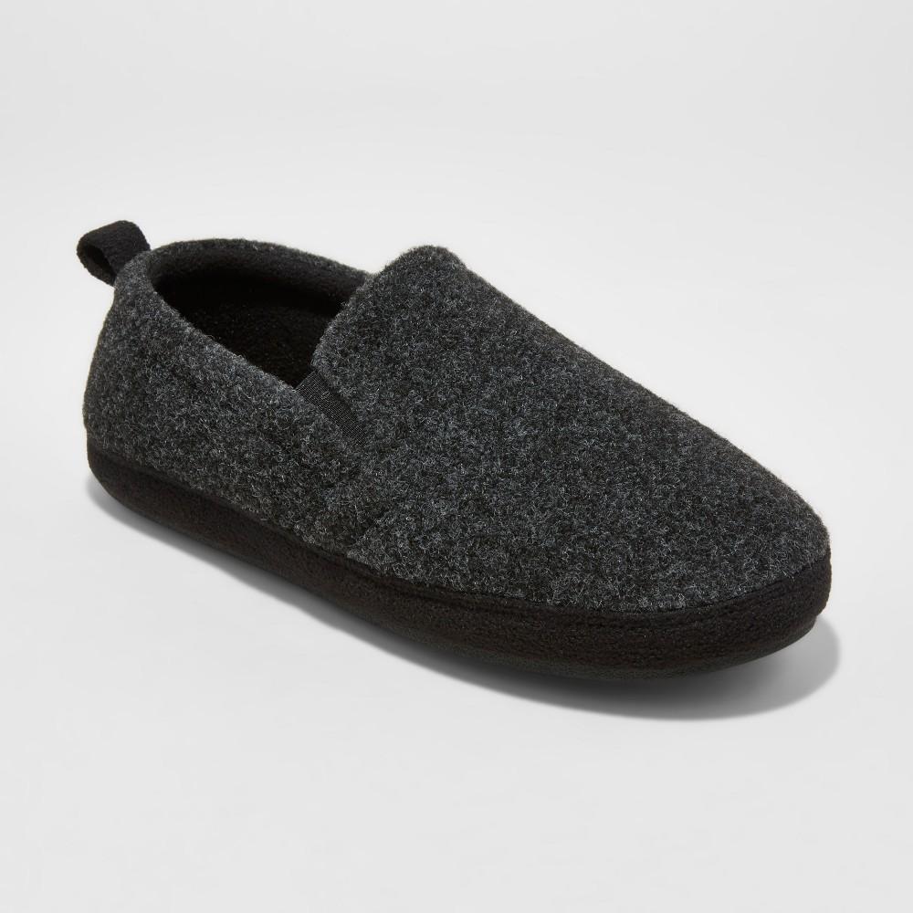 Mens Dayton Fleece Twin Gore Slippers - Goodfellow & Co Gray L(11-12), Size: L (11-12)