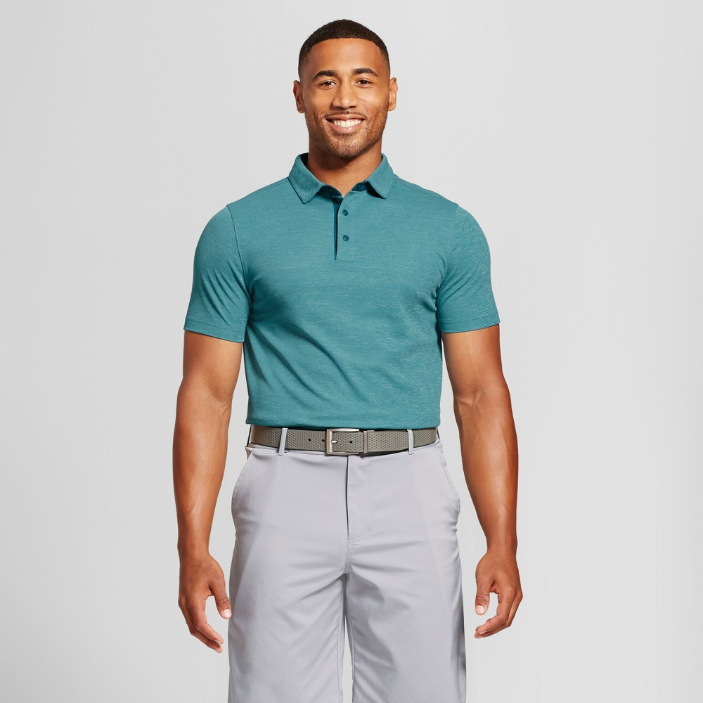 Mens Pique Golf Polo - C9 Champion - Green XL, Size: Xxl