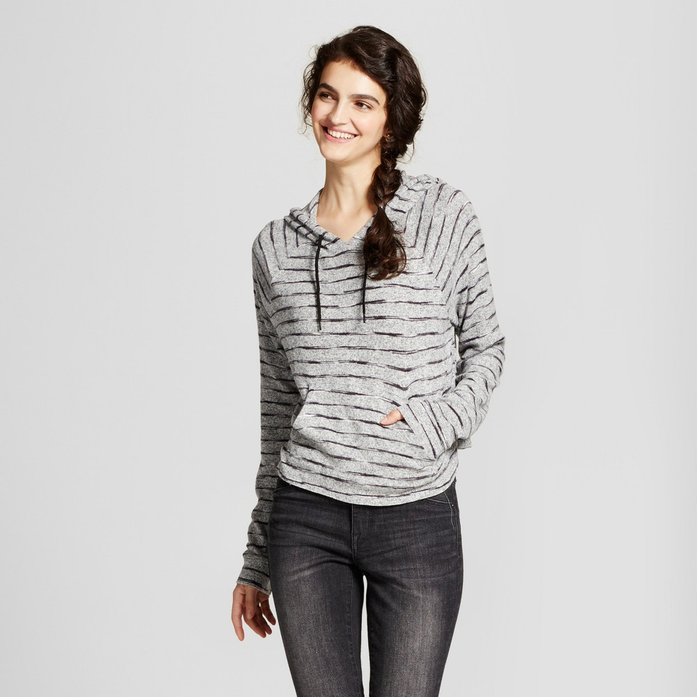 Womens Crop Hoodie - Mossimo Supply Co. Black/Gray L