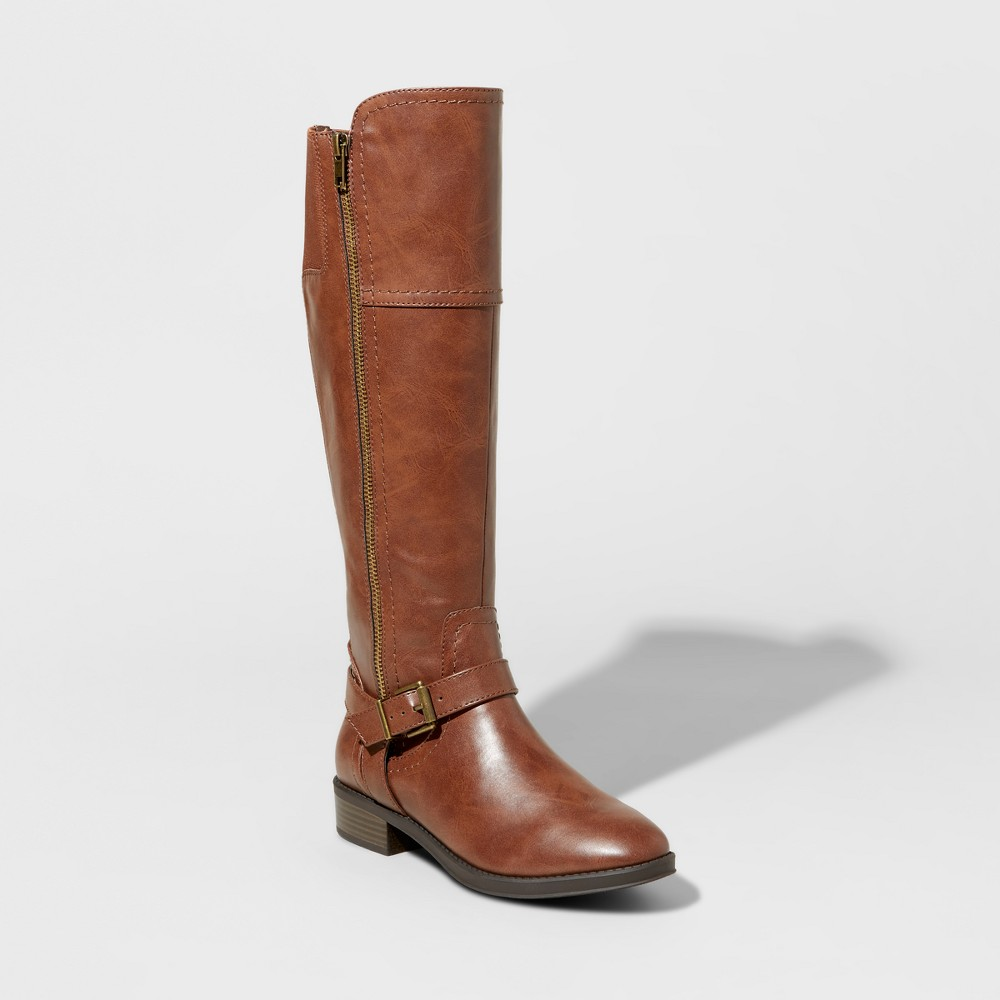 Womens Adaline Tall Riding Boots - Merona Brown 10