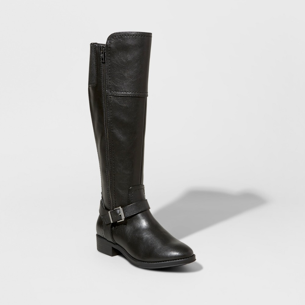 Womens Adaline Tall Riding Boots - Merona Black 8