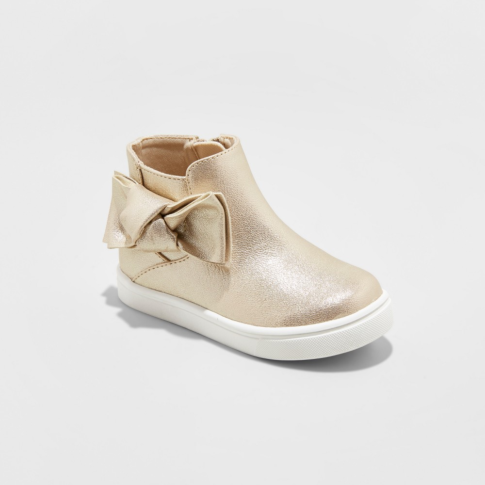 Toddler Girls Montana Fashion Boots - Cat & Jack Gold 12