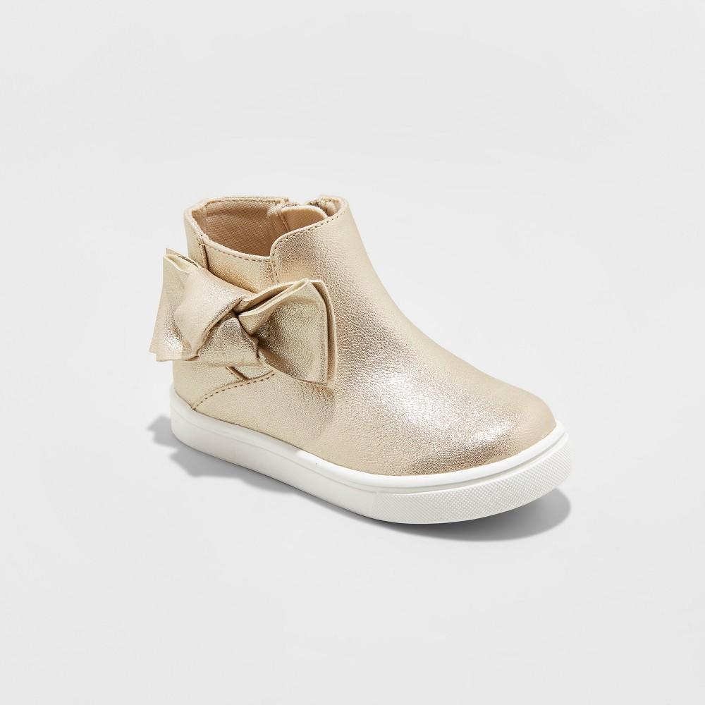 Toddler Girls Montana Fashion Boots - Cat & Jack Gold 9