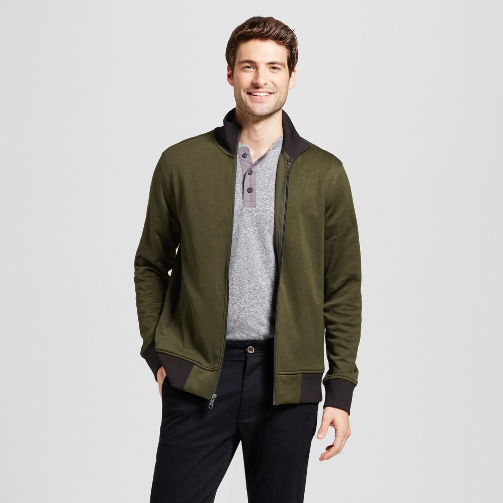Men's Standard Fit Activewear Track Jackets - Goodfellow & Co Green S