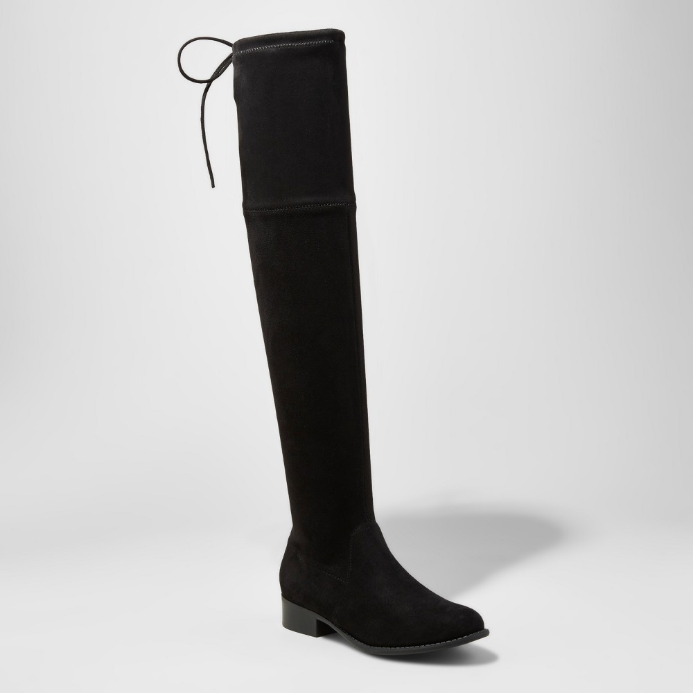 Womens Sidney Wide Width & Calf Over the Knee Boots - A New Day Black 9.5, Size: 9.5 Wide Width & Calf