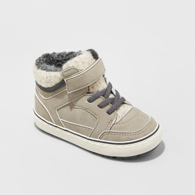Toddler Boys' Harlan Sherpa Lined Chukka Boots 6 Cat & Jack™ Taupe Brown