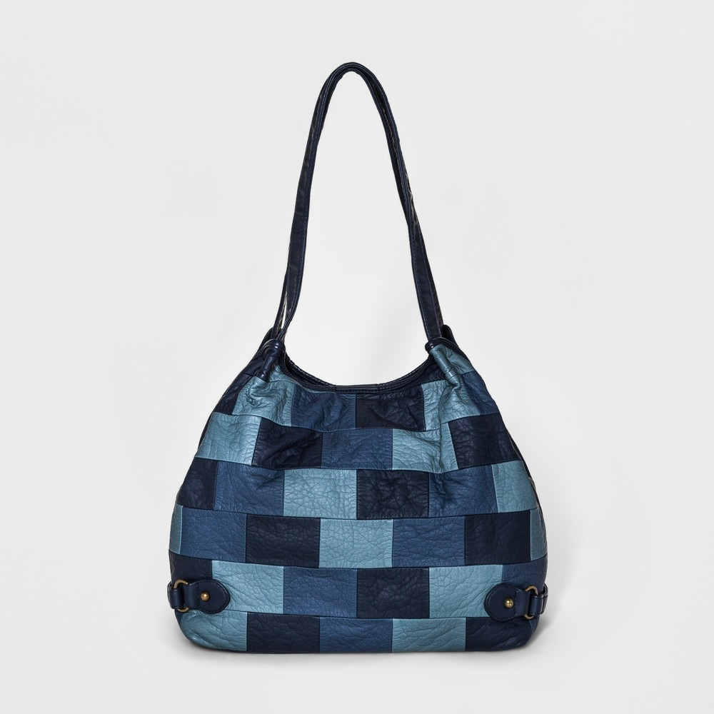 Womens Bueno Pebble Washed Hobo Handbag - Denim Blue