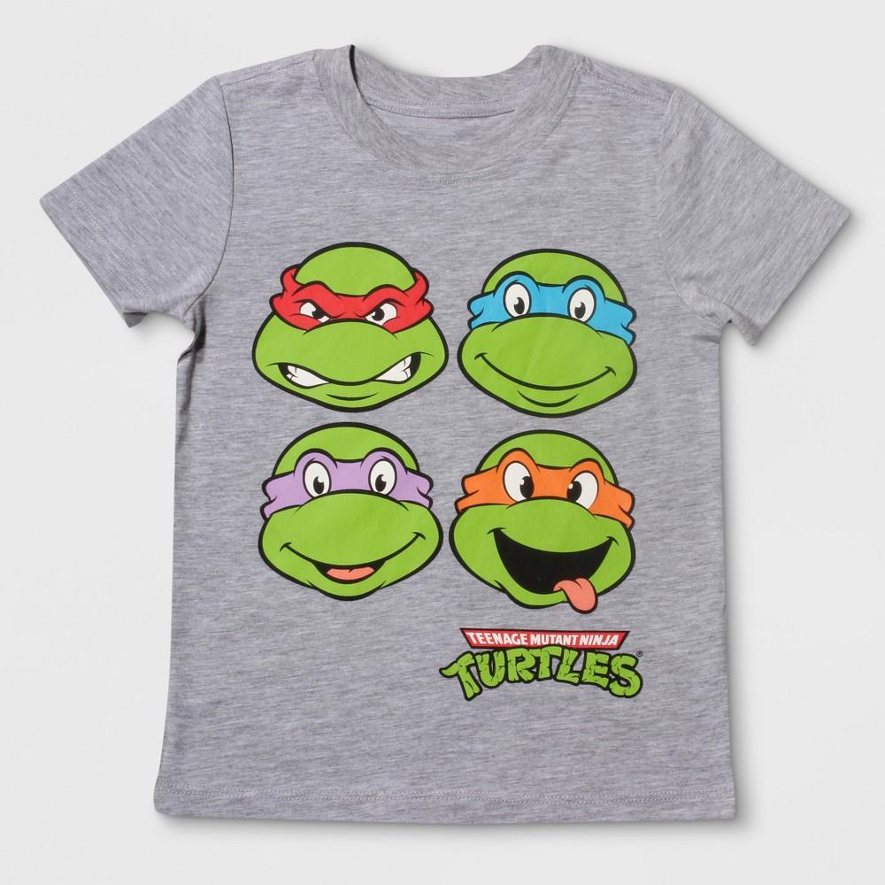 T-Shirt Teenage Mutant Ninja Turtles Heather Gray 4T, Infant Boys
