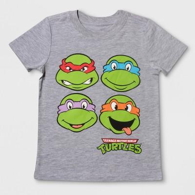 Toddler Boys' Nickelodeon Teenage Mutant Ninja Turtles Short Sleeve T-Shirt - Heather Gray 12M