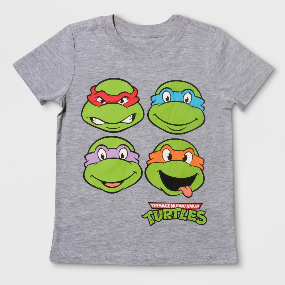 T-Shirt Teenage Mutant Ninja Turtles Heather Gray 12 Months, Infant Boys