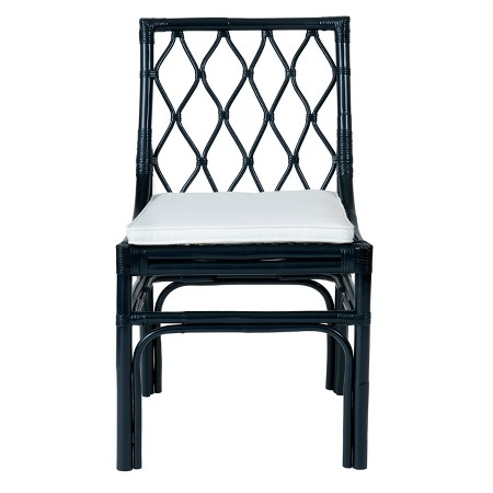 Taft Rattan Dining Chair - Blue - East At Main