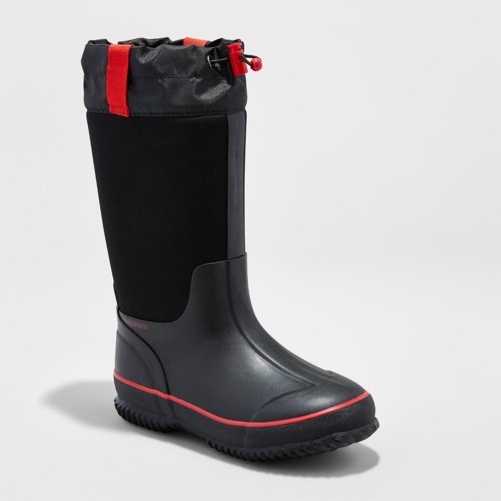 Boys Preston Neoprene Winter Boots - Cat & Jack Black 5