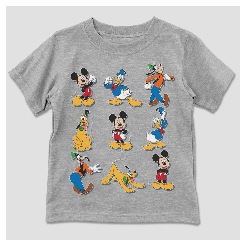 T-Shirt Mickey Mouse Light Gray 5T, Toddler Boys
