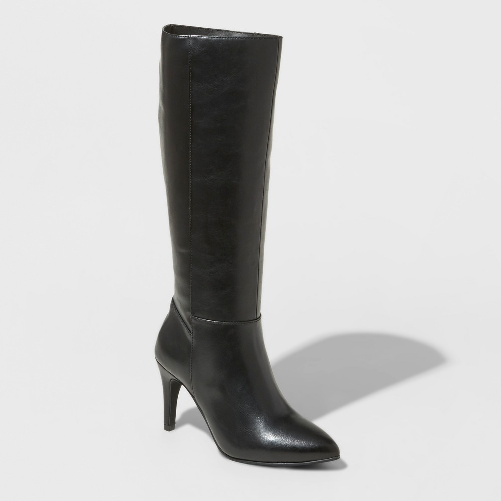 Women's Tina Heeled Tall Boots - Mossimo Black 11