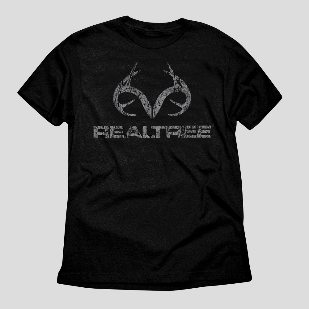Mens Realtree Ghost Horns Graphic T-Shirt - Black M