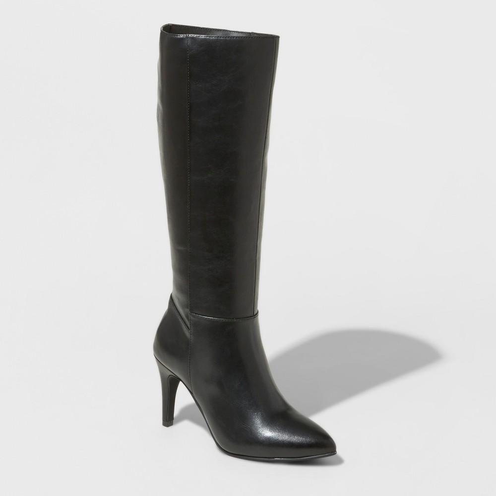 Womens Tina Heeled Tall Boots - Mossimo Black 6