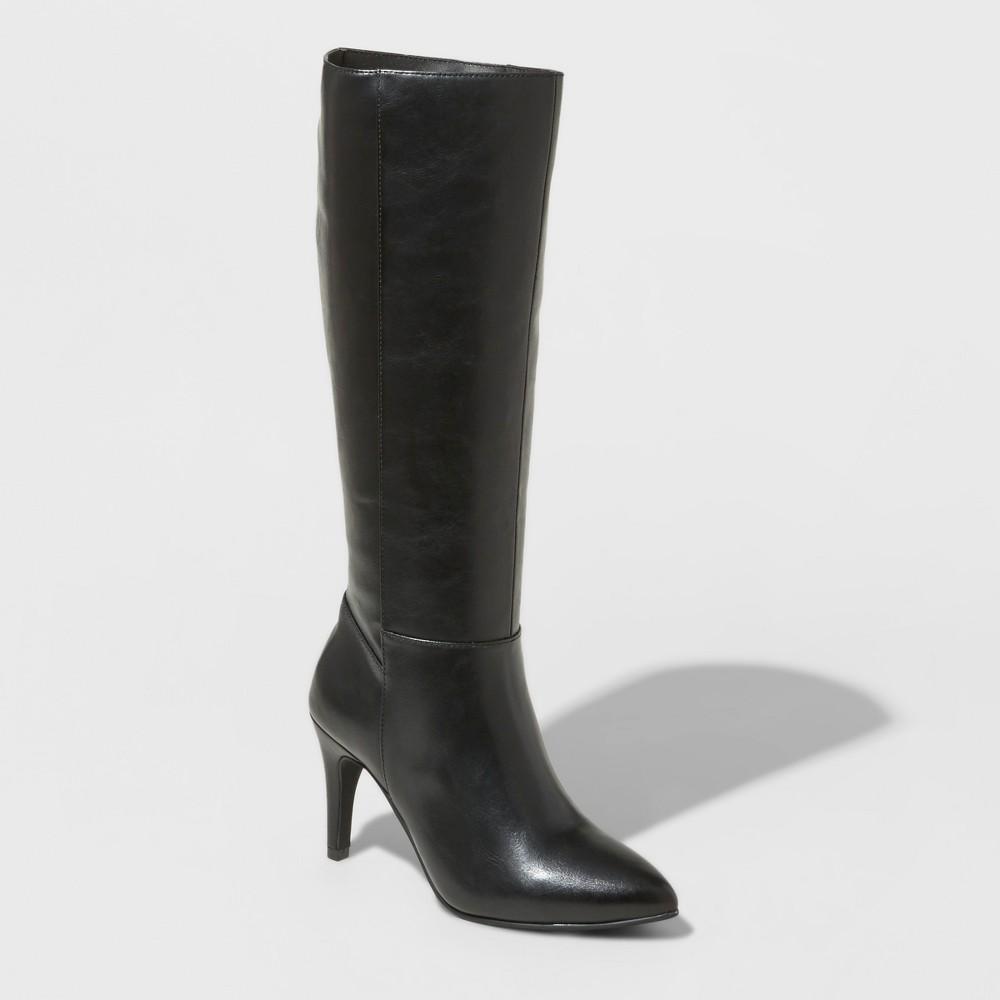 Womens Tina Heeled Tall Boots - Mossimo Black 6.5