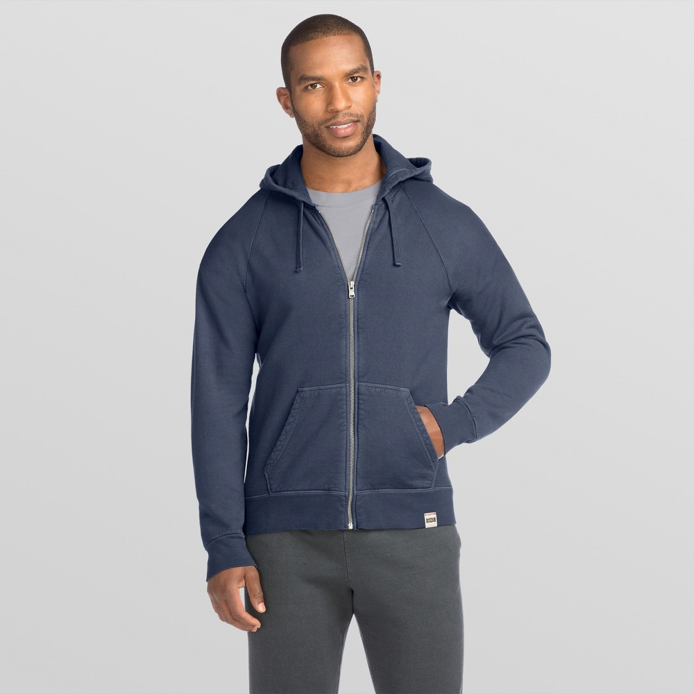 Hanes Men's 1901 Heritage Fleece Full Zip Hoodie - Navy (Blue) M