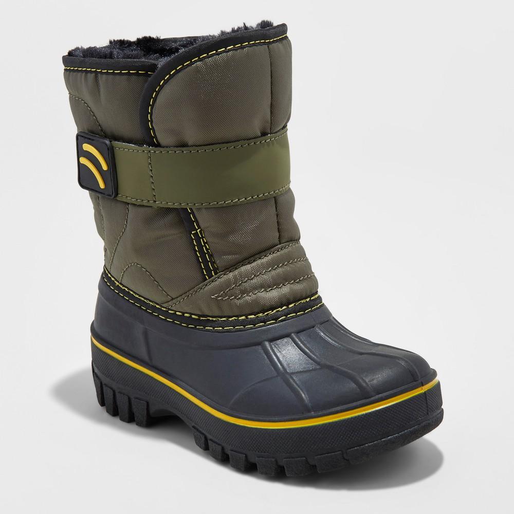 Toddler Boys Demetrius Winter Boots - Cat & Jack Green 5-6, Size: S(5-6)