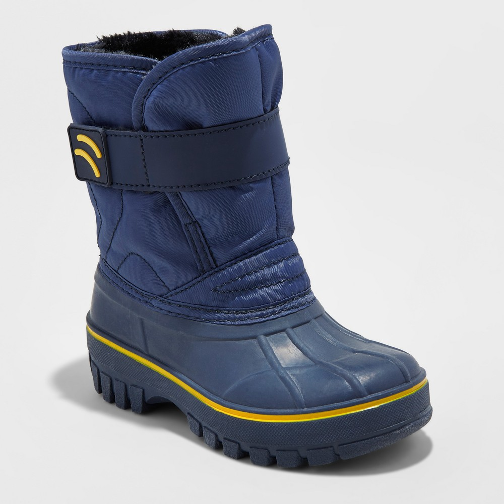 Toddler Boys Demetrius Winter Boots - Cat & Jack Navy 9-10, Size: L(9-10), Blue