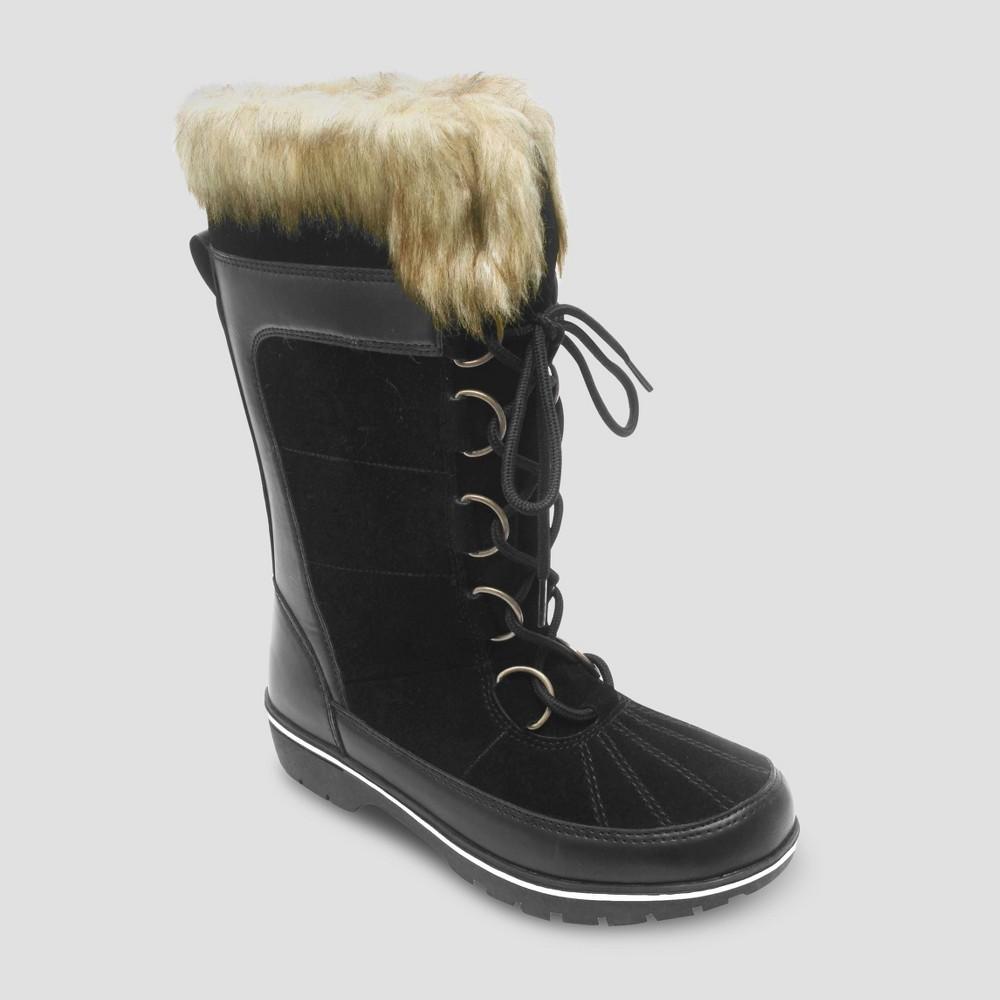 Womens Hollyn Winter Boots - Merona Black 11