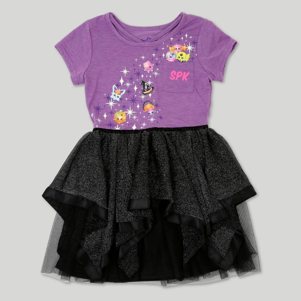 Girls Shopkins Halloween Dress - Purple XS