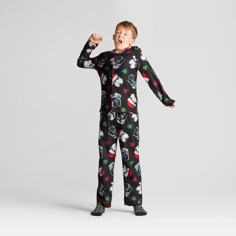 Boys' Lucas Star Wars Pajama Set - Black L