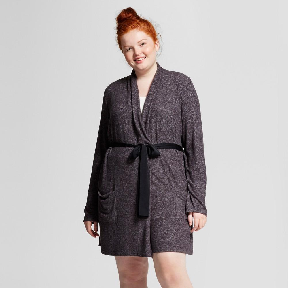 Womens Plus Size Robes - Xhilaration Night Black 3X