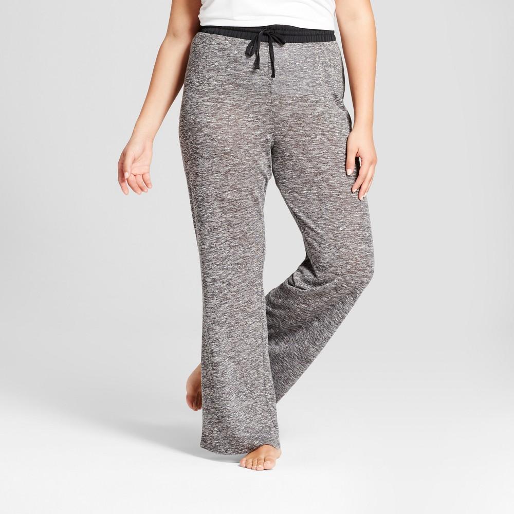Womens Plus Size Pajama Pants - Xhilaration Vintage Black 3X