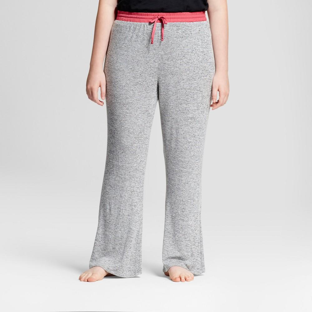 Womens Plus Size Pajama Pants - Xhilaration Heather Gray 2X