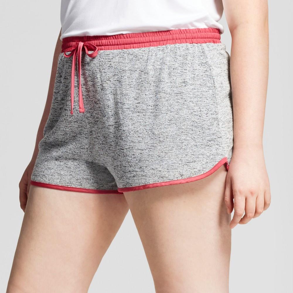 Womens Plus Size Pajama Shorts - Xhilaration Stone Heather 1X, Gray