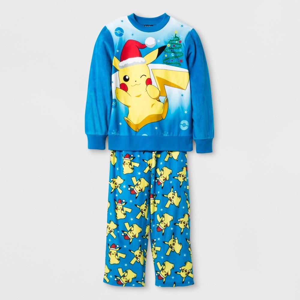 Boys Pokemon Pajama Set - Blue S
