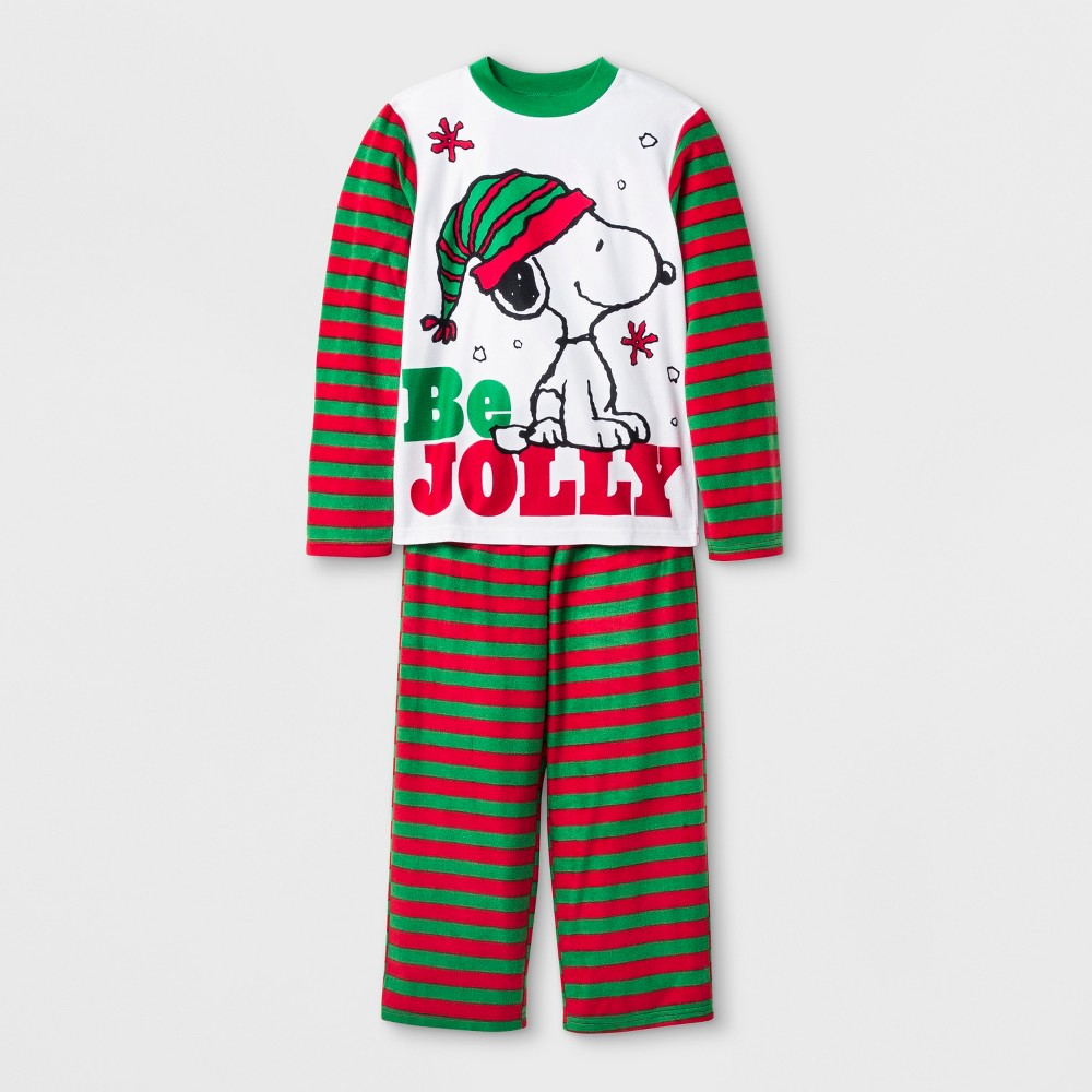 Boys Peanuts Worldwide Snoopy Set With Gift Bag Pajama Set - White M