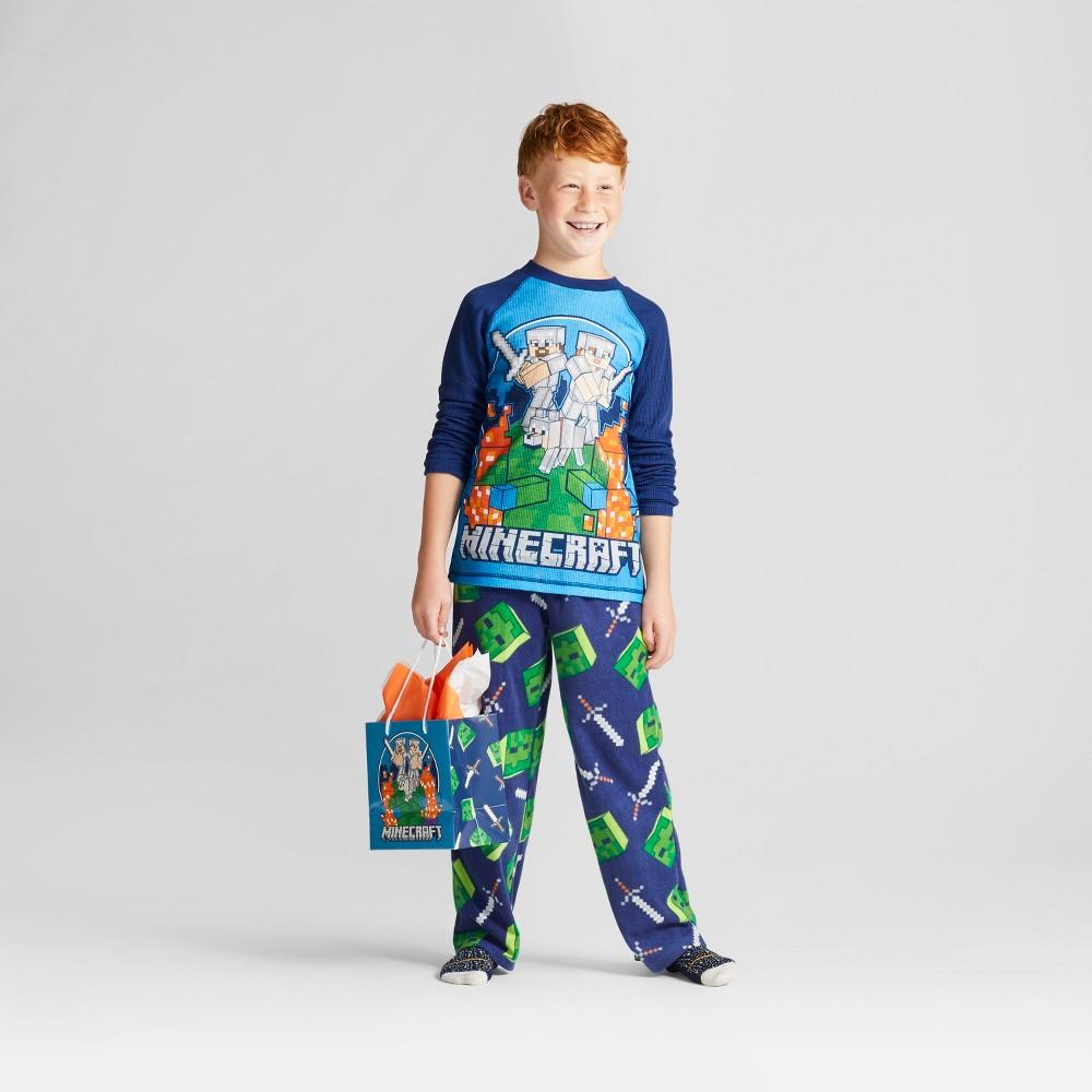 Boys Mojang Minecraft Pajama Set - Blue M
