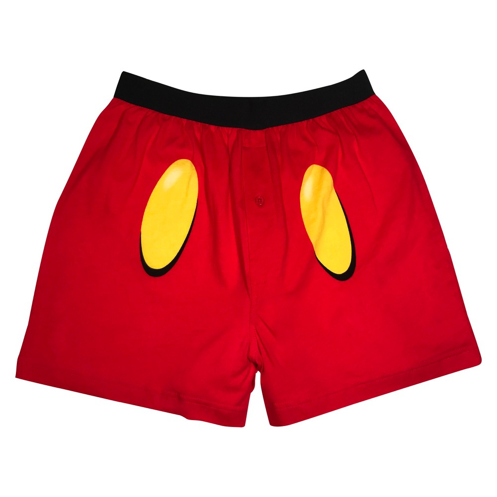 Men's Mickey Mouse Boxer Briefs - Red M