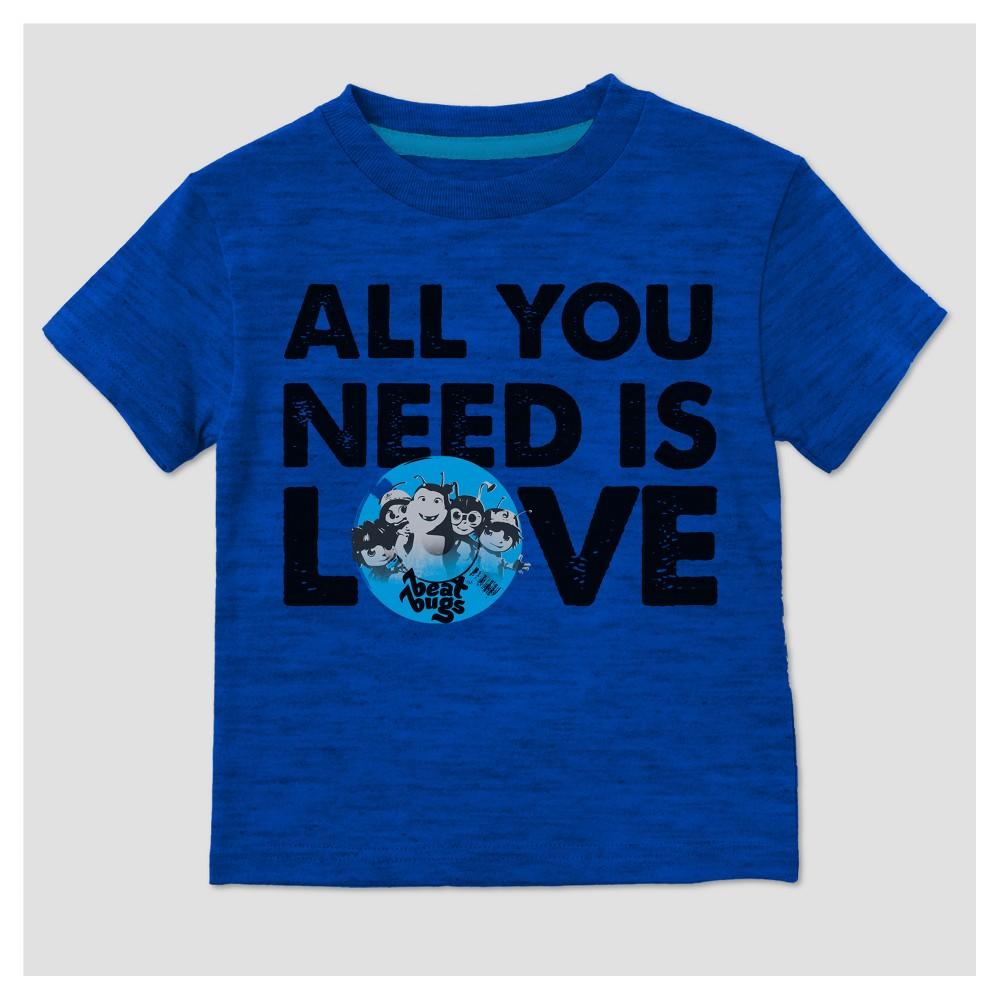T-Shirt Beat Bugs Royal Blue 4T, Toddler Boys