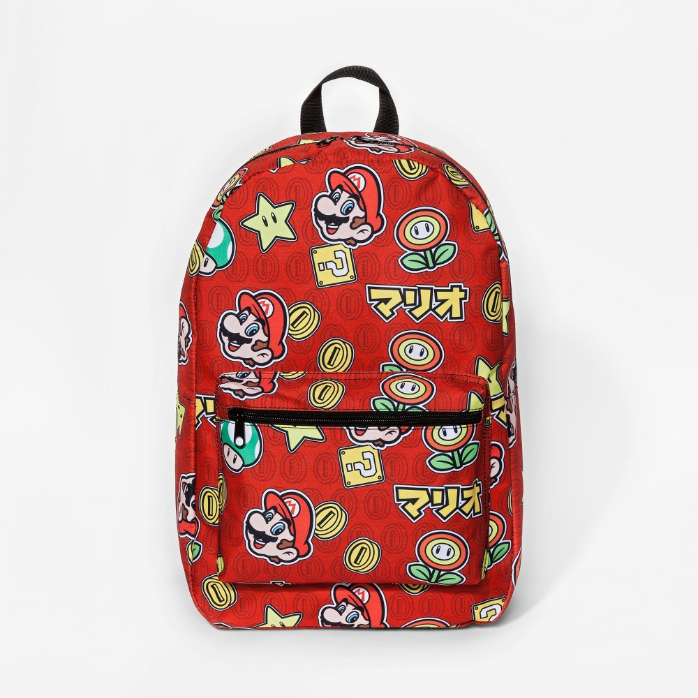 Super Mario Brothers Kids Backpack - Red