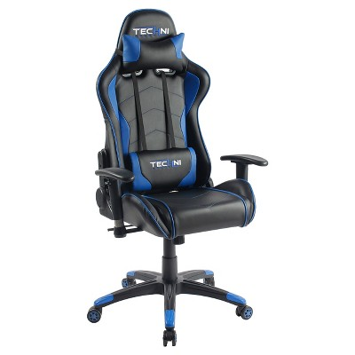 Ts-4800 Ergonomic High Back Computer Racing Gaming Chair - Blue - Techini Sport